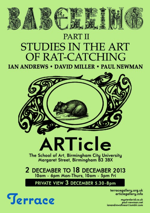 BABELLING Part II: Studies in the Art of Rat Catching
